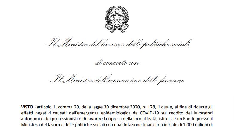 esonero contributi inps 2021